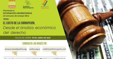 Concurso de ensayo sobre el costo de la corrupción y sus efectos en la economía y la vida ciudadana