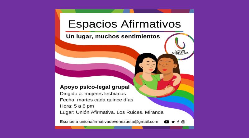 Espacios Afirmativos en Caracas, sesiones grupales de apoyo psicosocial y legal para LGBT
